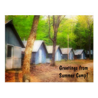 Greetings From Summer Camp Postcard