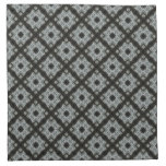 Grey black pattern napkins