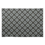 Grey black pattern placemat