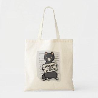 Grey cat - mugshot - cat cartoon tote bag