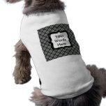 Grey Crisscross Pattern Dog Clothes