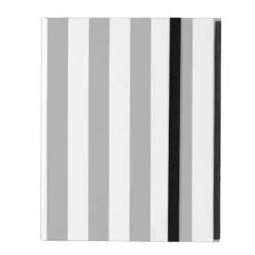 Grey Vertical Stripes iPad Folio Case