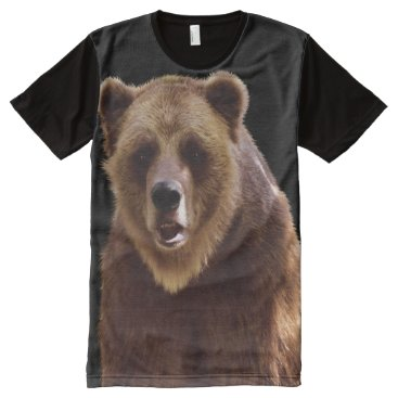 Grizzly Bear Wilderness Wildlife Art All-Over-Print T-Shirt