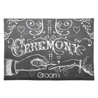 Grom Chalkboard Modern Vintage Typography Placemat