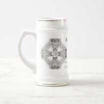 Grooms Irish Blessing Celtic Cross Stein Coffee Mugs