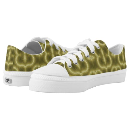 Groovey Green and Gold Printed Shoes