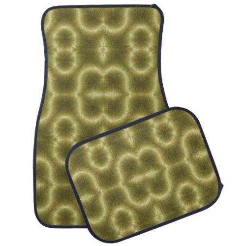 Groovy Green and Gold Car Mat