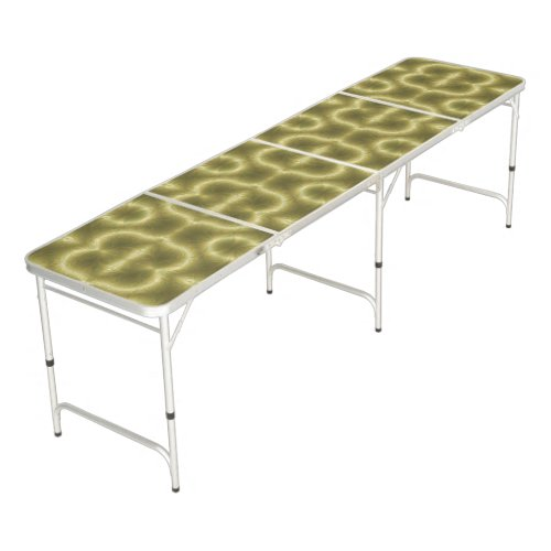 Groovy Green and Gold Pong Table