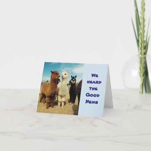 GROUP OF **CONGRATULATIONS GOOD NEWS** CARD
