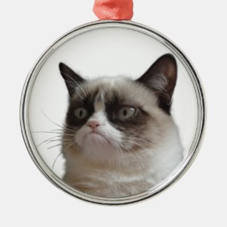 Grumpy Cat 'Grumpy Glare' Christmas Ornament