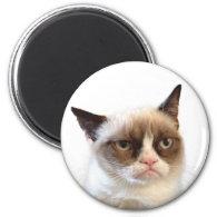 Grumpy Cat Round Magnet