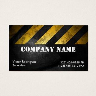 Grunge Construction Business Card
