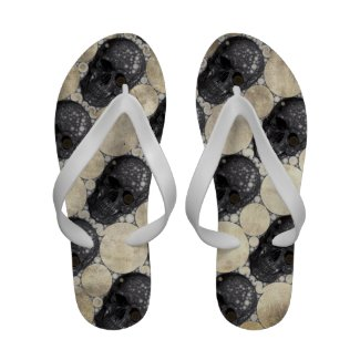 Grunge Skull head (Patterns) sandals