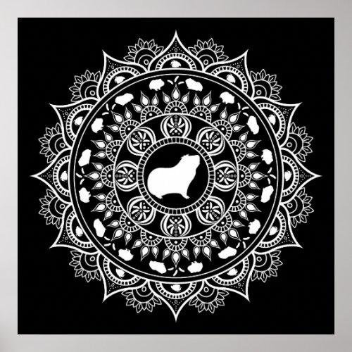 Guinea Pig Mandala Art Poster