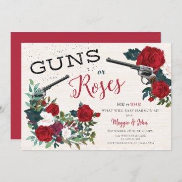 Guns or Roses gender reveal invitation
