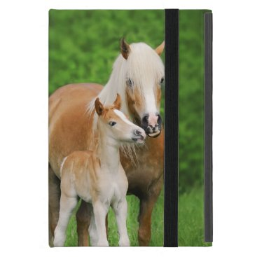 Haflinger Horses Cute Foal Kiss Mum  - Protection Case For iPad Mini