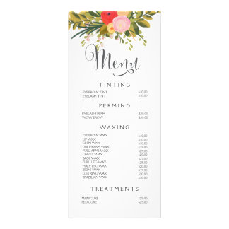 Nail Salon Price List Gifts On Zazzle