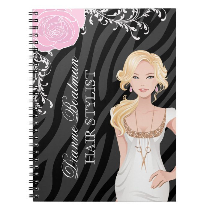 Hair Salon Note Book  Appointment Book  Zazzle