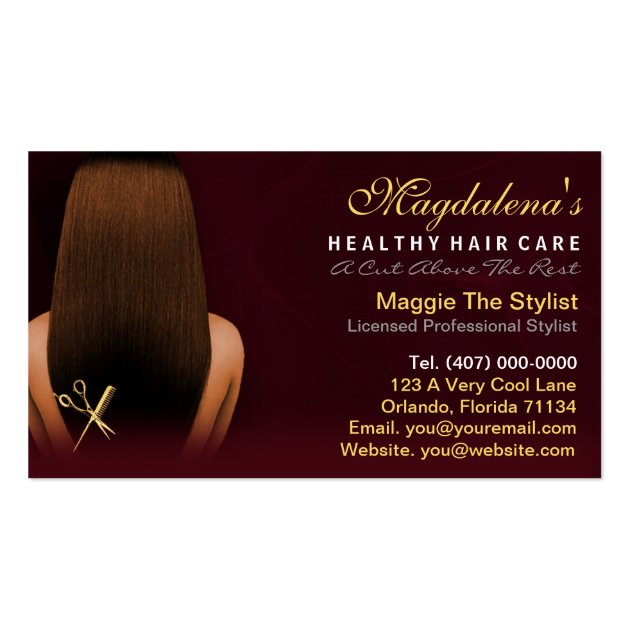 Cards Hair Stylist Business