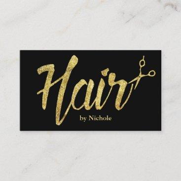 Hair Stylist Modern Gold Script Salon Appointment