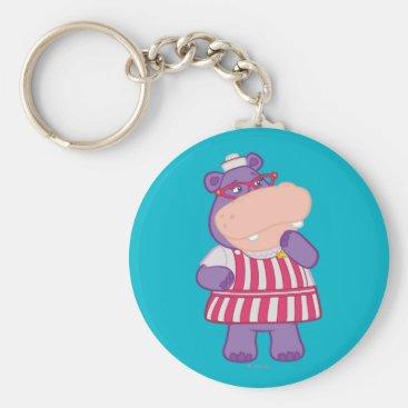 Hallie the Happy Hippo Keychain