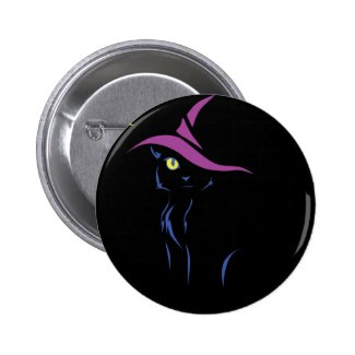 Sly Halloween Black Cat Pins