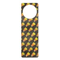 Halloween Candy Corn Pattern Door Hanger | Zazzle
