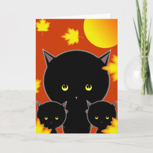 Halloween Cat Card Cute!