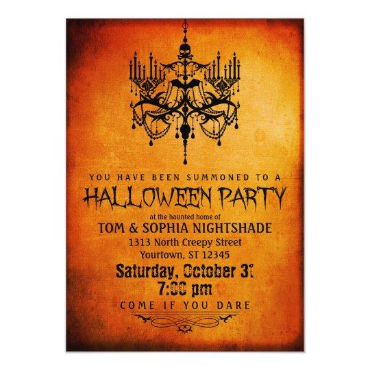 Halloween Chandelier Party Invitation Zazzle Com