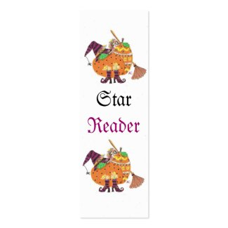 Halloween design 2013 mini bookmarks Double-Sided mini business cards (Pack of 20)