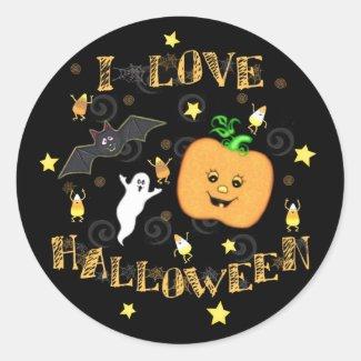 Halloween Love Stickers