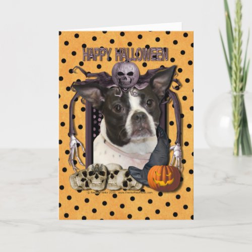 Halloween Nightmare - Boston & Rat Terrier - Jazy Card