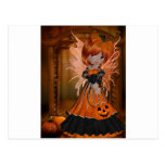 Halloween Pumpkin Fairy Postcard