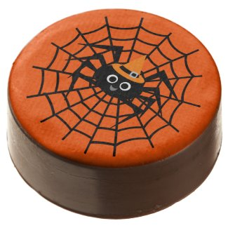 Halloween Spider on Web Dipped Oreos