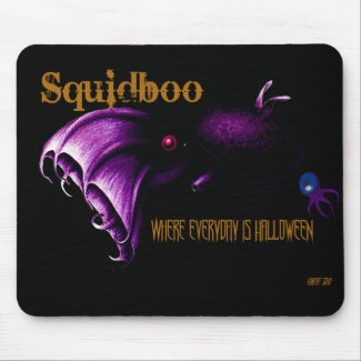 Halloween SquidBoo Vampire Squid Mousepad mousepad