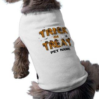 Halloween - Trick or Treat Dog Shirt (#8)