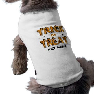 Halloween - Trick or Treat Dog Shirt (#8) petshirt
