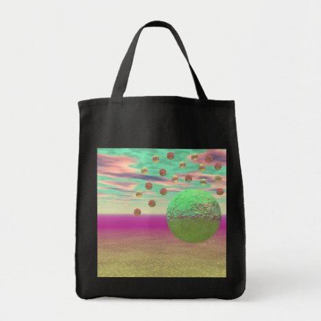 Halo of Moons, Abstract Colorful Cosmos Tote Bag