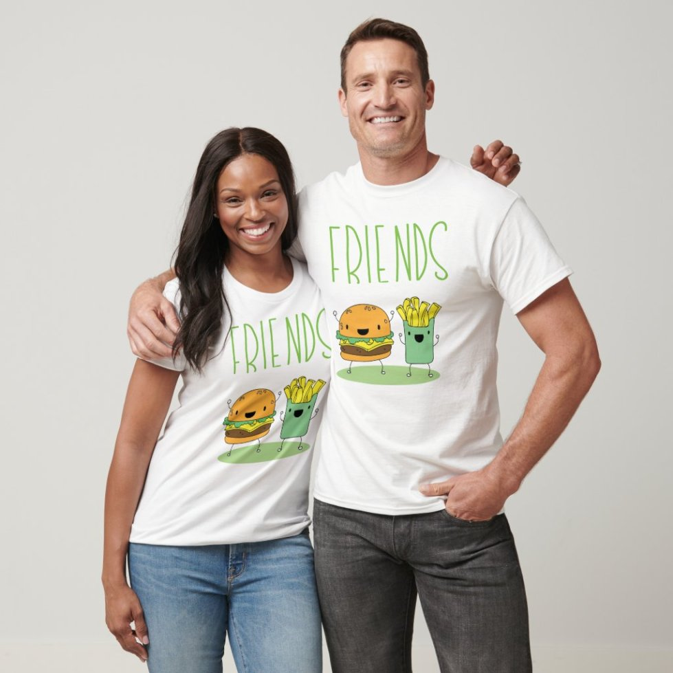 Hamburger and French Fries Best Friend T-Shirt