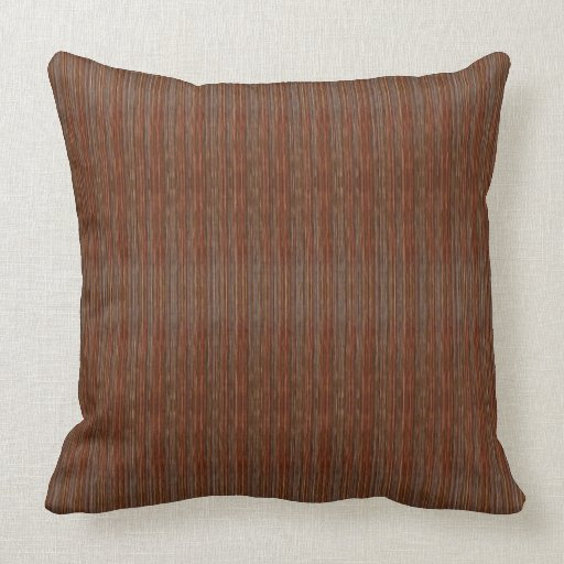 HAMbyWG  Throw Pillow 20  Rust Brown  Zazzle