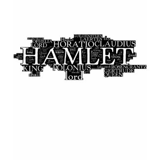 Hamlet Word Cloud shirt
