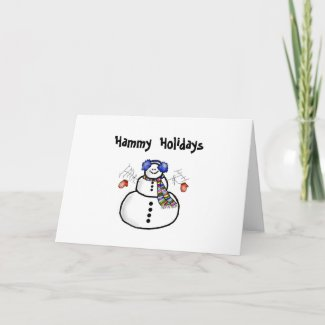 """Hammy Holidays"" Christmas Greeting Card"