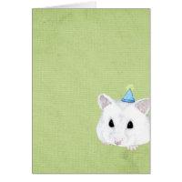 hamster blank card