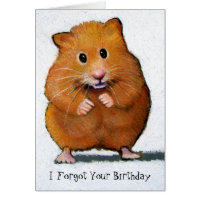 HAMSTER, I Forgot Your Birthday Card