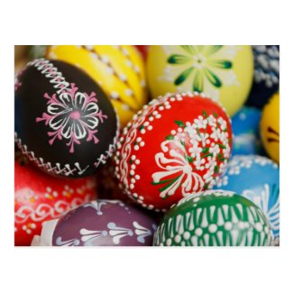 Hand-painted Easter Eggs Post Card