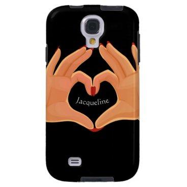 Hands Heart Love Sign Samsung Galaxy S3 Case