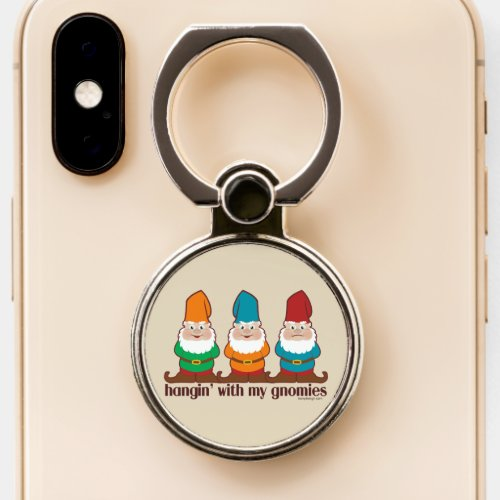 Hangin' With My Gnomies | Beige Phone Ring Stand