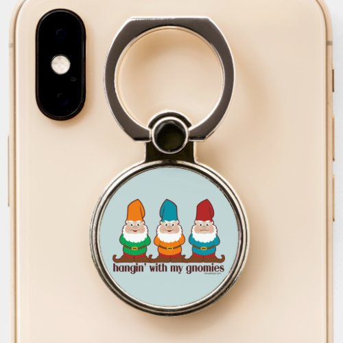 Hangin' With My Gnomies | Blue Phone Ring Stand