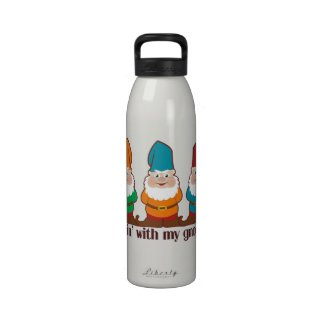 Hangin' With My Gnomies Reusable Water Bottles
