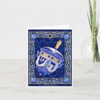 Hanukkah Dreidel Notecard card